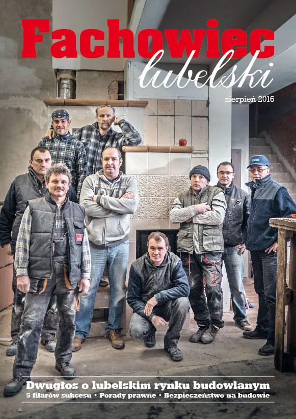 Fachowiec Lubelski, okładka, sierpień 2016