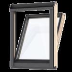 Okna kolankowe – stanowią połączenie okna fasadowego zpołaciowym, amontuje się je wścianie kolankowej. Ponieważ sięgają do podłogi, znacząco zwiększają powierzchnię szyb i– wzwiązku ztym – zapewniają szerszy widok zokna.
